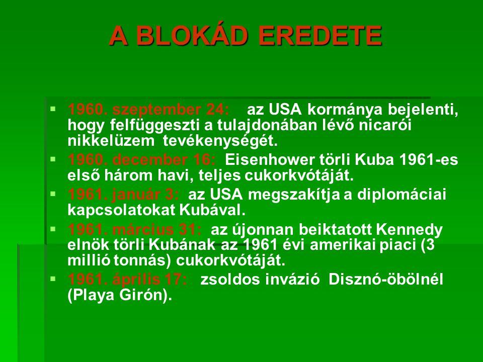 A BLOKÁD EREDETE   1960.