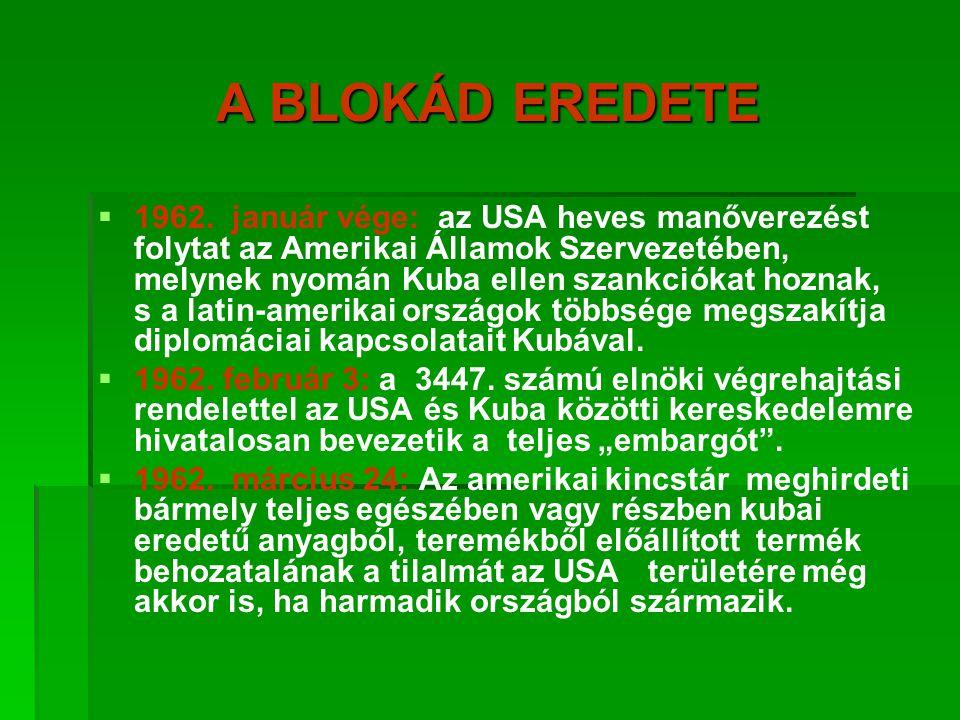 A BLOKÁD EREDETE   1962.