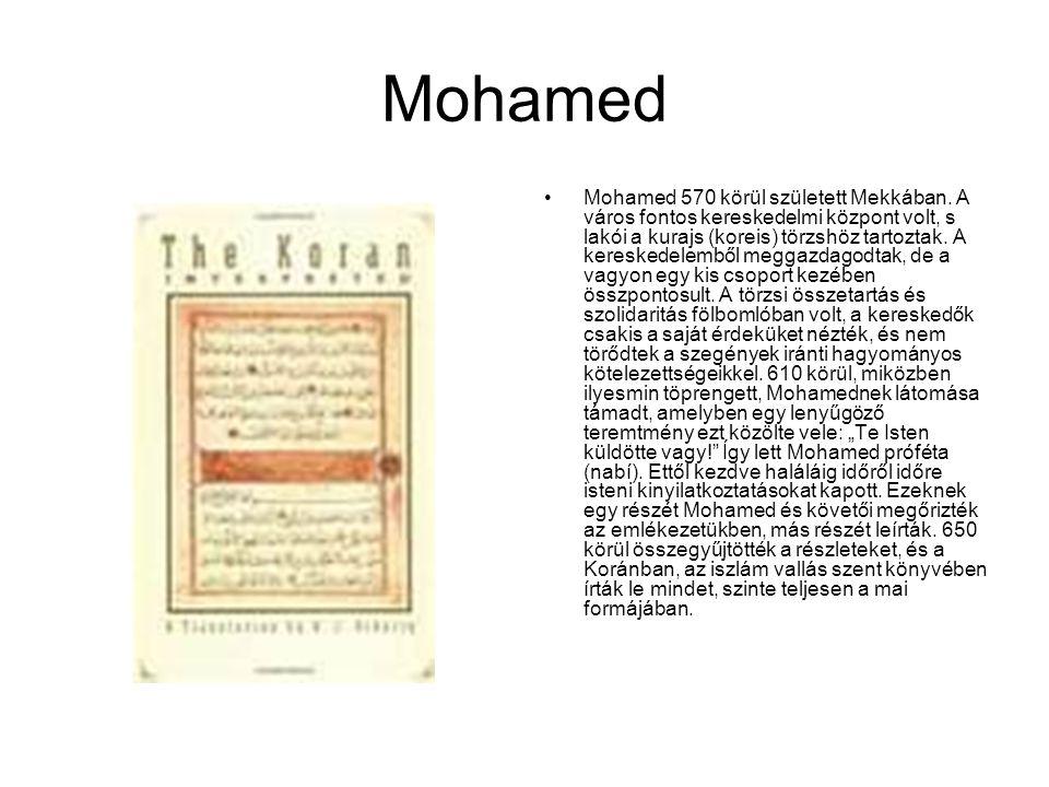 Mohamed Mohamed 570 körül született Mekkában. A város fontos kereskedelmi központ volt, s lakói a kurajs (koreis) törzshöz tartoztak. A kereskedelembő