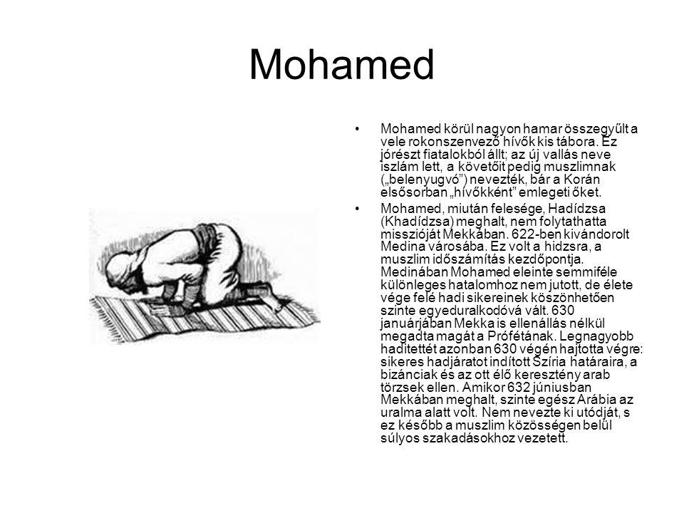 Mohamed Mohamed körül nagyon hamar összegyűlt a vele rokonszenvező hívők kis tábora. Ez jórészt fiatalokból állt; az új vallás neve iszlám lett, a köv