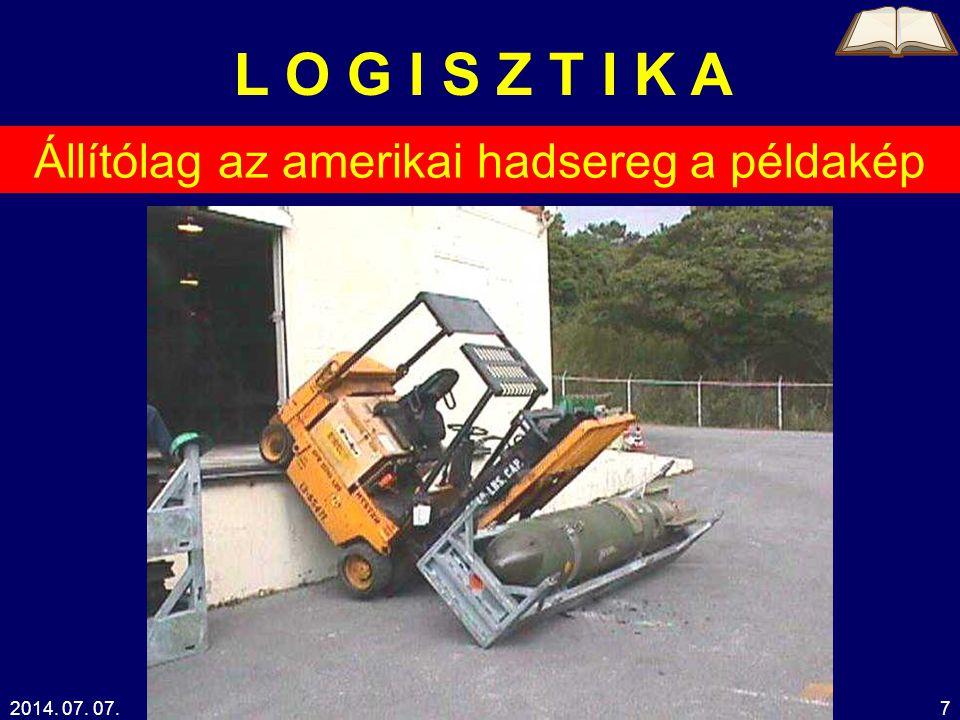 2014.07. 07.Kelemen Tamás38 L O G I S Z T I K A termelés beszerzésértékesítés Marketing .