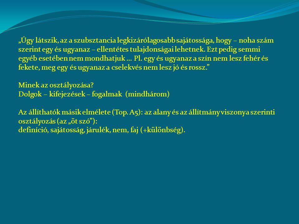 """Herméneutika """"Amik a beszéd részei, azok a lélekben levő lenyomatok jelei, a leírtak pedig a beszéd részeinek jelei."""