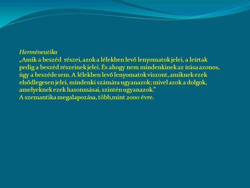 írásbeszéd lélekdolgok jel hasonlóság lenyomat Magyarázandó: a (beszélt vagy írott) nyelv révén megértjük egymást.