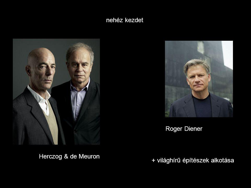 Herczog & de Meuron Roger Diener nehéz kezdet + világhírű építészek alkotása