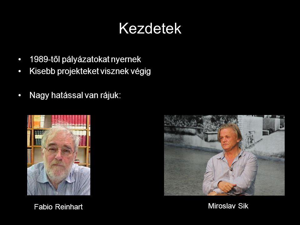 Kezdetek 1989-től pályázatokat nyernek Kisebb projekteket visznek végig Nagy hatással van rájuk: Fabio Reinhart Miroslav Sik