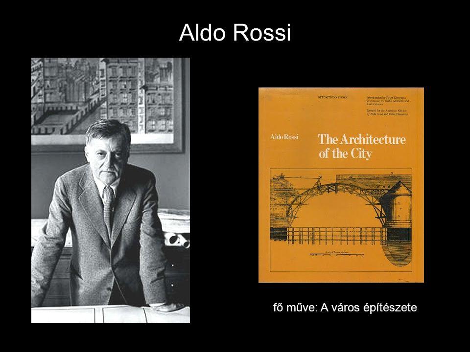 Aldo Rossi fő műve: A város építészete