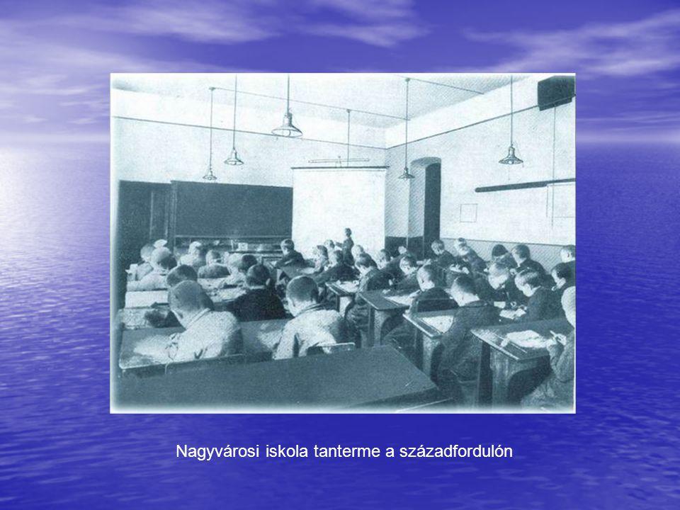 Nagyvárosi iskola tanterme a századfordulón