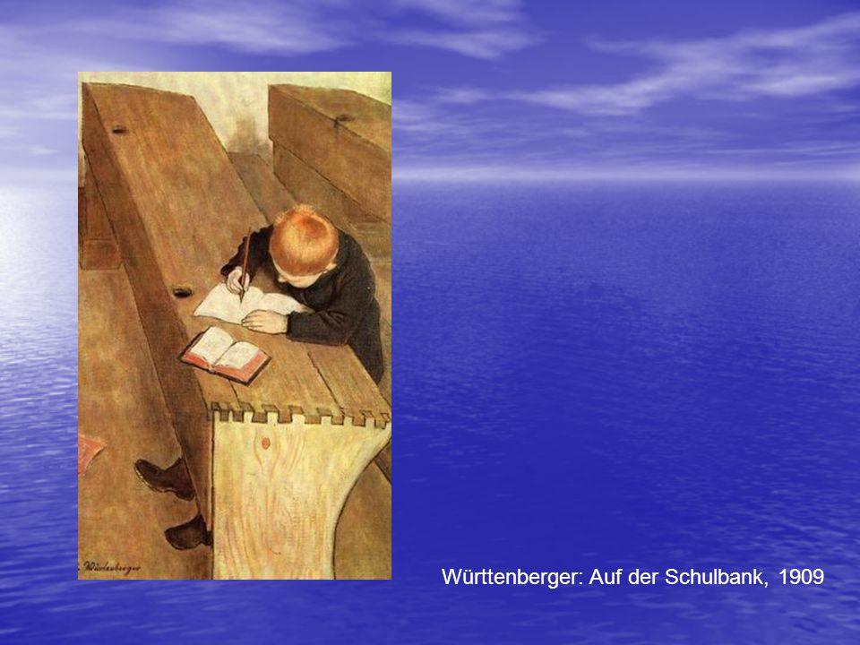 Württenberger: Auf der Schulbank, 1909