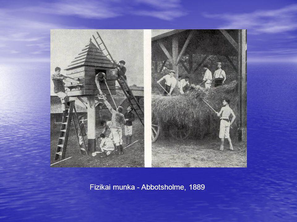 Fizikai munka - Abbotsholme, 1889