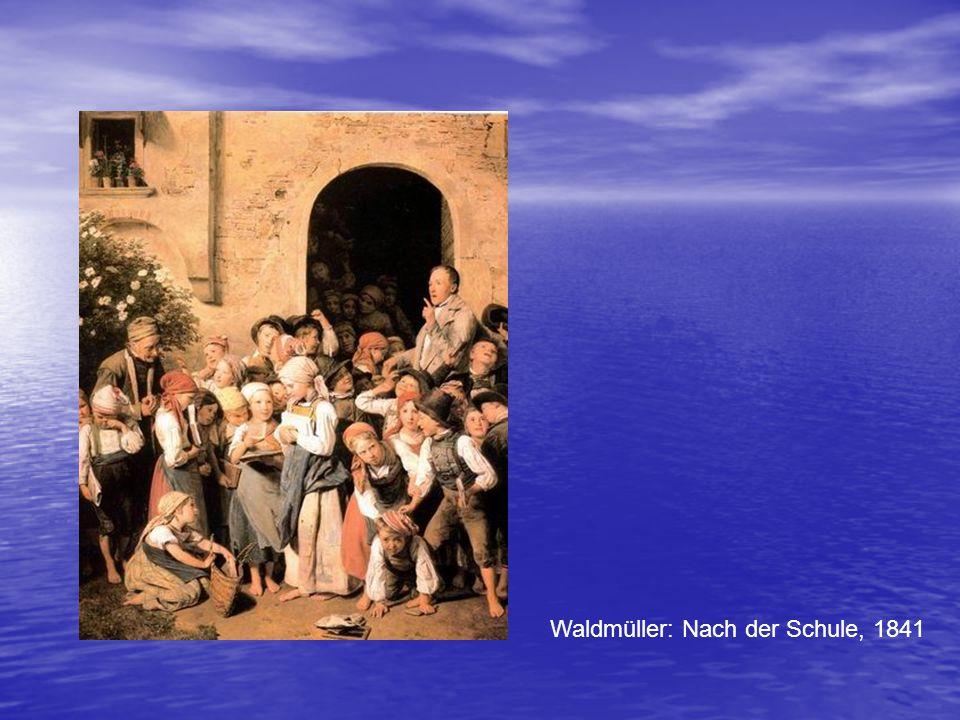 Waldmüller: Nach der Schule, 1841
