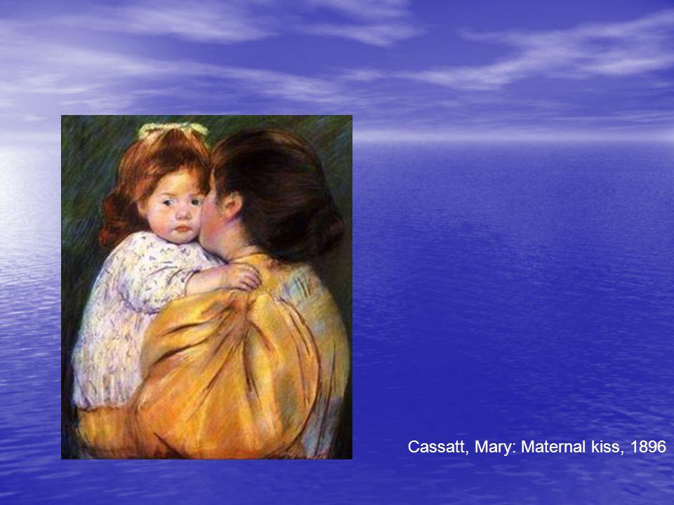 Cassatt, Mary: Maternal kiss, 1896
