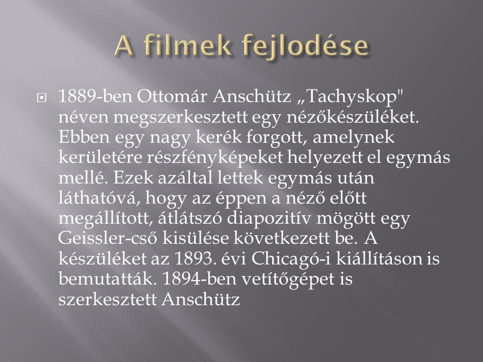 """ 1889-ben Ottomár Anschütz """"Tachyskop"""