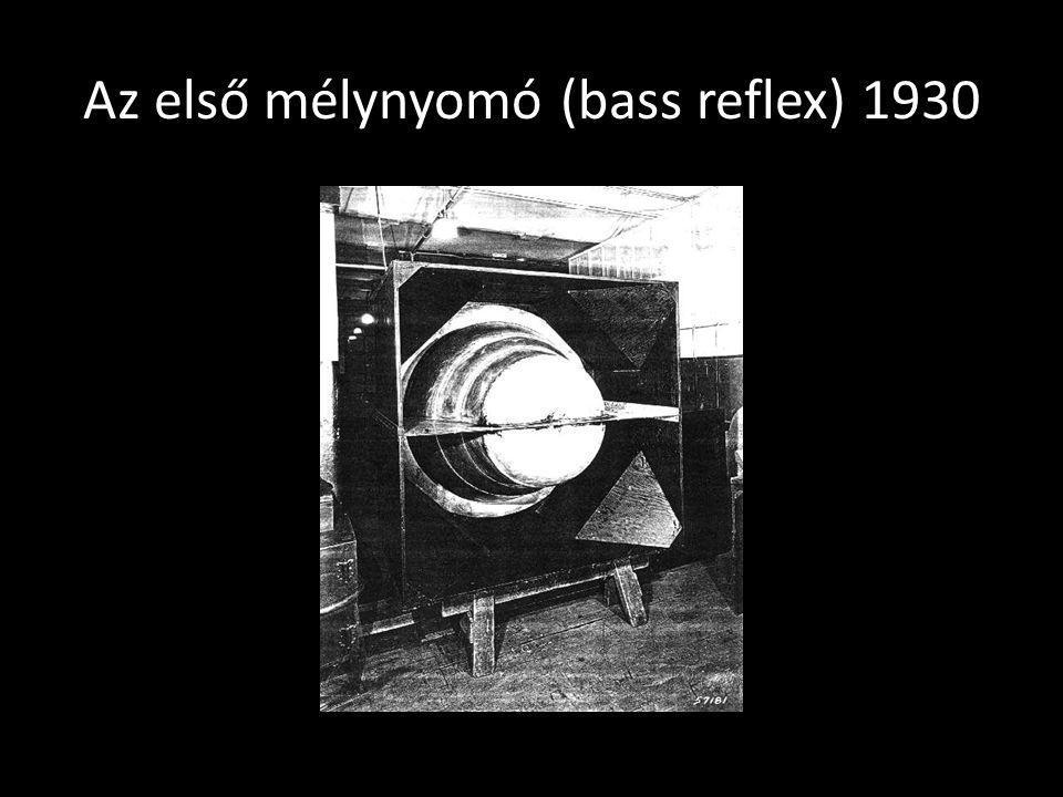 Az első mélynyomó (bass reflex) 1930