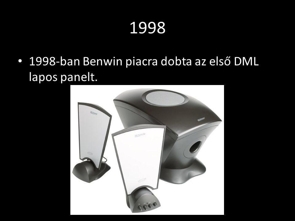 1998 1998-ban Benwin piacra dobta az első DML lapos panelt.