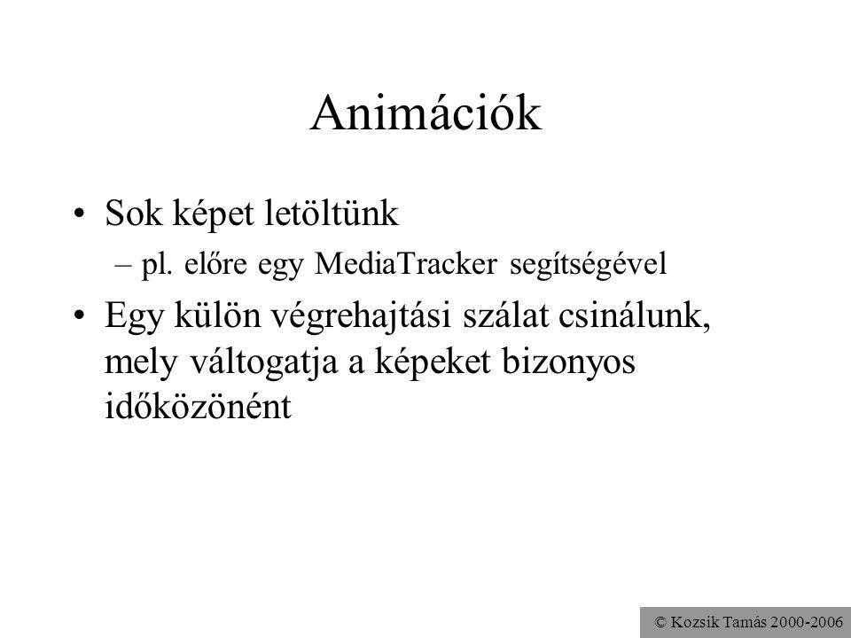 © Kozsik Tamás 2000-2006 Animációk Sok képet letöltünk –pl.