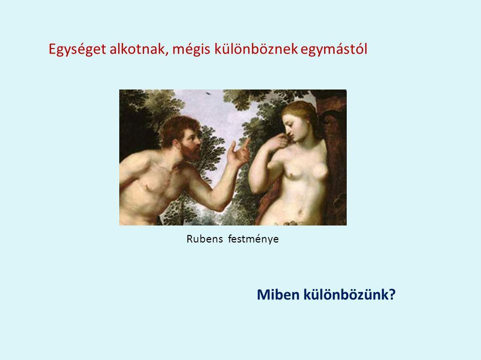 Egységet alkotnak, mégis különböznek egymástól Rubens festménye Miben különbözünk?