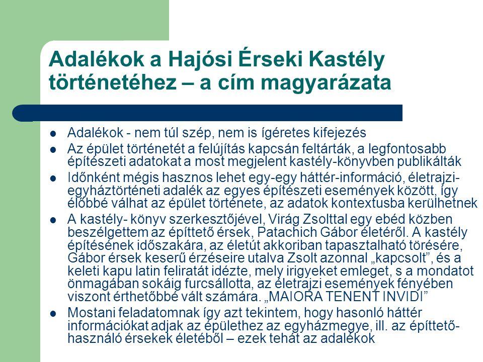 """Az egyházmegye Patachich Gábor érsek idején - 1733-1739, az első hat év A török után elsőként Kalocsára költöző érsek horvát arisztokrata családból származik, és mindössze 34 éves – nem akármilyen feladatra szemelték ki, Kalocsa ekkor """"egész embert kívánt Méltatlanul elfeledték, noha hozzá fűződik az egyházmegye újjáépítésének """"hősies korszaka."""