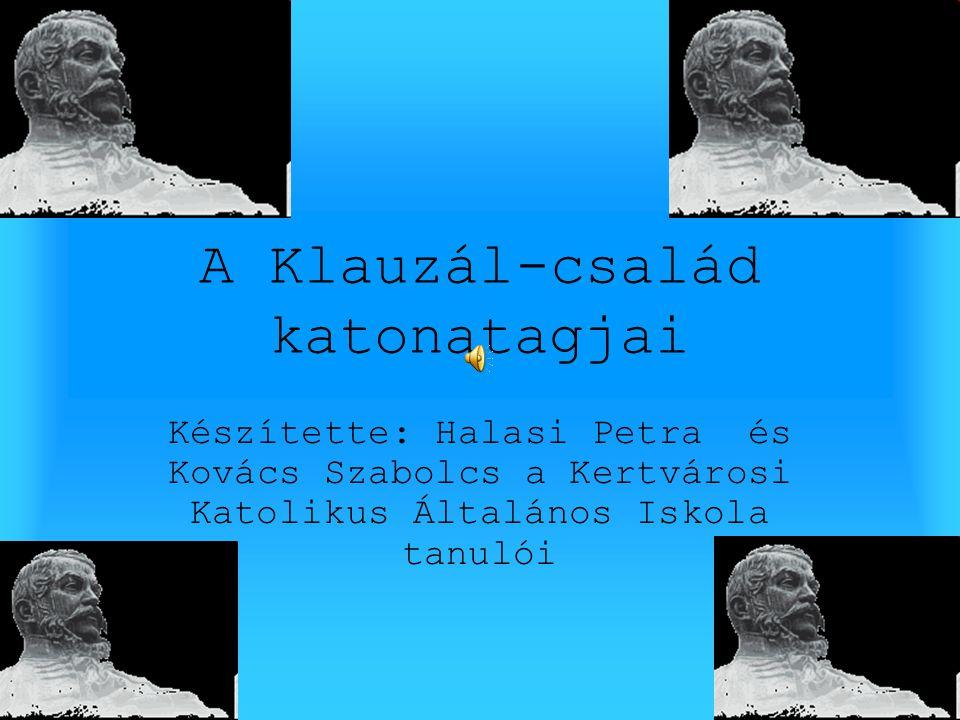 A Klauzál-család katonatagjai Készítette: Halasi Petra és Kovács Szabolcs a Kertvárosi Katolikus Általános Iskola tanulói