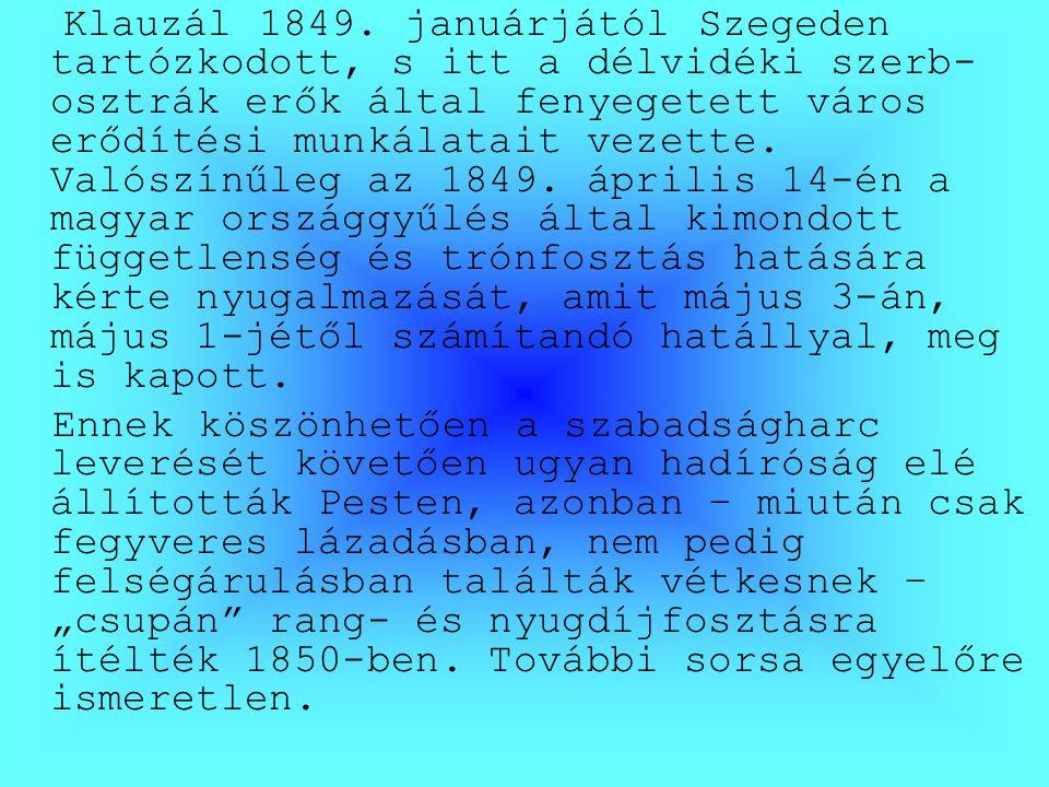 Klauzál 1849.