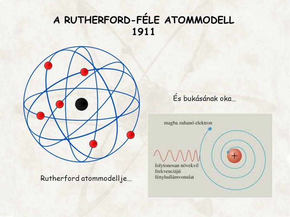 A RUTHERFORD-FÉLE ATOMMODELL 1911 Rutherford atommodellje… És bukásának oka…