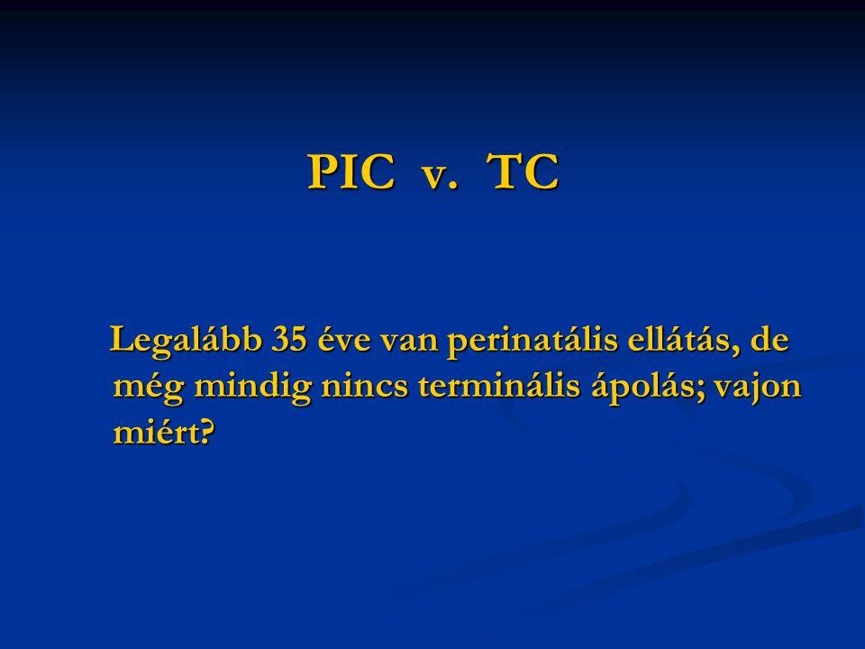 PIC v. TC Legalább 35 éve van perinatális ellátás, de még mindig nincs terminális ápolás; vajon miért? Legalább 35 éve van perinatális ellátás, de még