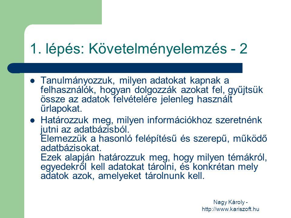 Nagy Károly - http://www.kariszoft.hu Tanulmányozzuk, milyen adatokat kapnak a felhasználók, hogyan dolgozzák azokat fel, gyűjtsük össze az adatok fel