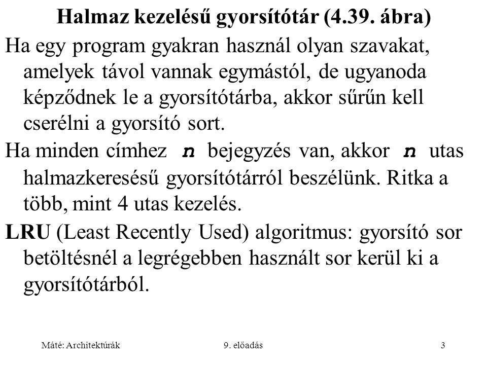 Máté: Architektúrák9.előadás14 Elküldő/Végrehajtó (4.48.
