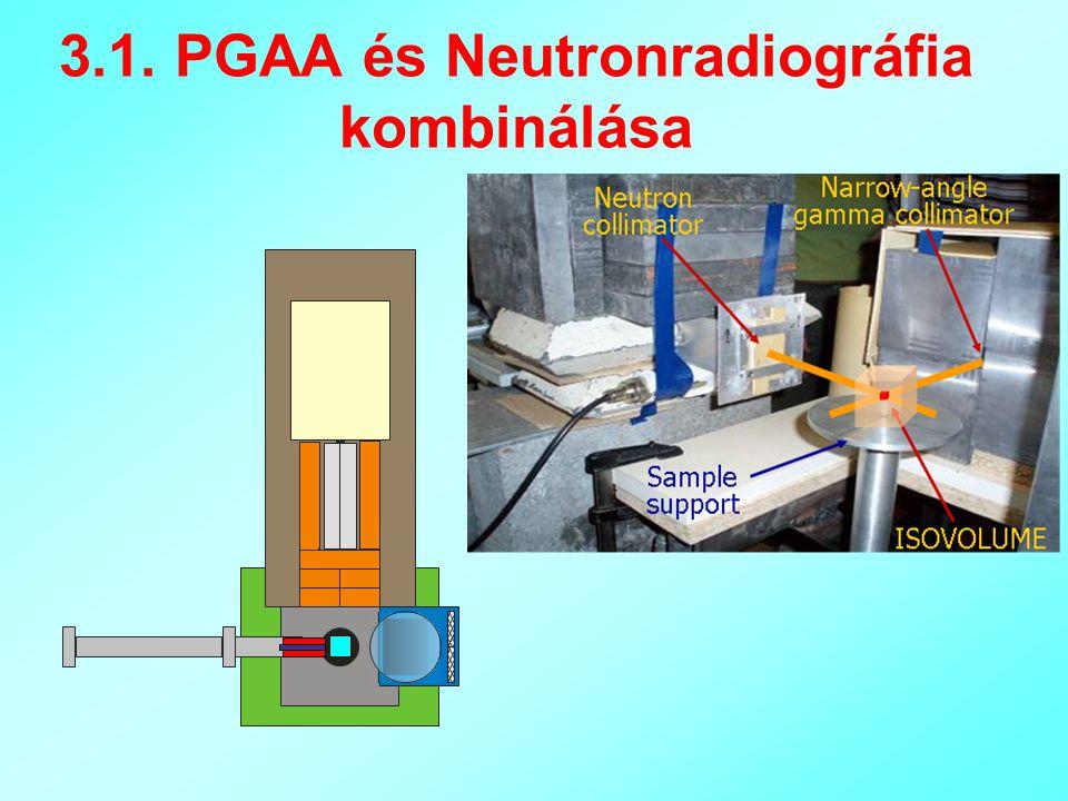 3.1. PGAA és Neutronradiográfia kombinálása