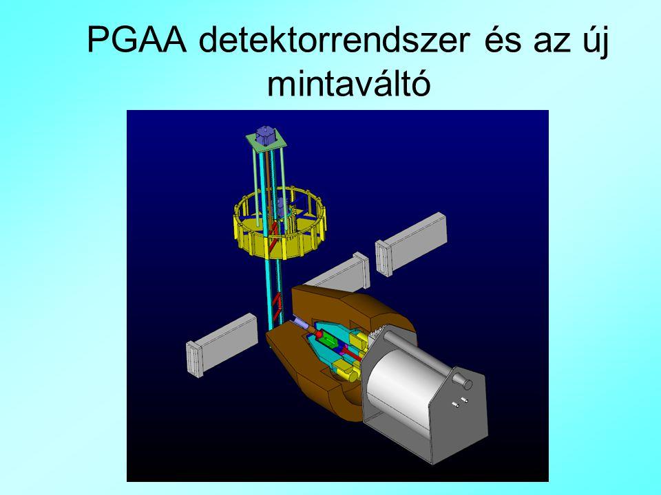 PGAA detektorrendszer és az új mintaváltó