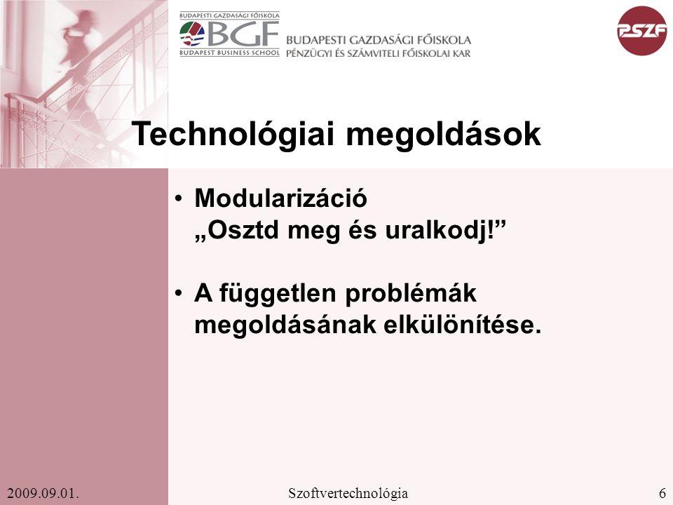 6Szoftvertechnológia2009.09.01.
