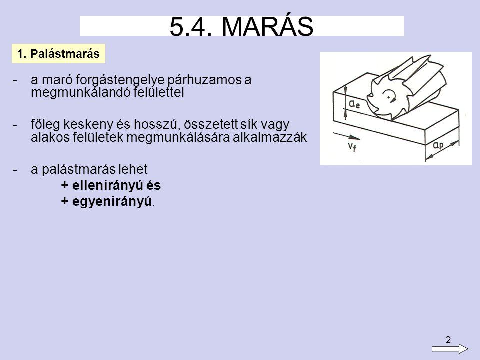 3 - a palástmarás általános módja.