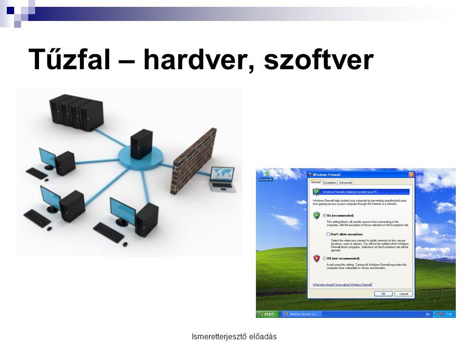 Ismeretterjesztő előadás Tűzfal – hardver, szoftver
