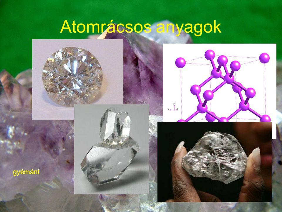 …továbbá Bór Germánium Szilícium Cink-szulfid Kvarc