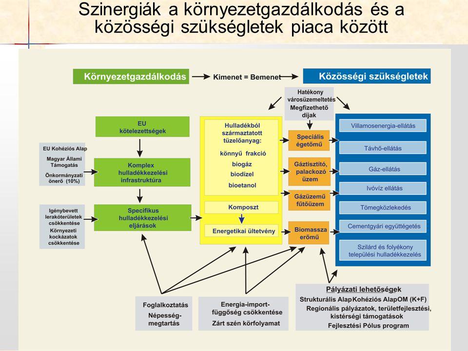 21 Szinergiák a környezetgazdálkodás és a közösségi szükségletek piaca között