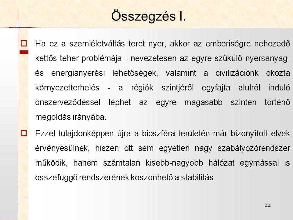 22 Összegzés I.