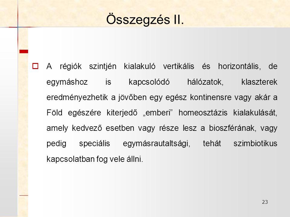 23 Összegzés II.