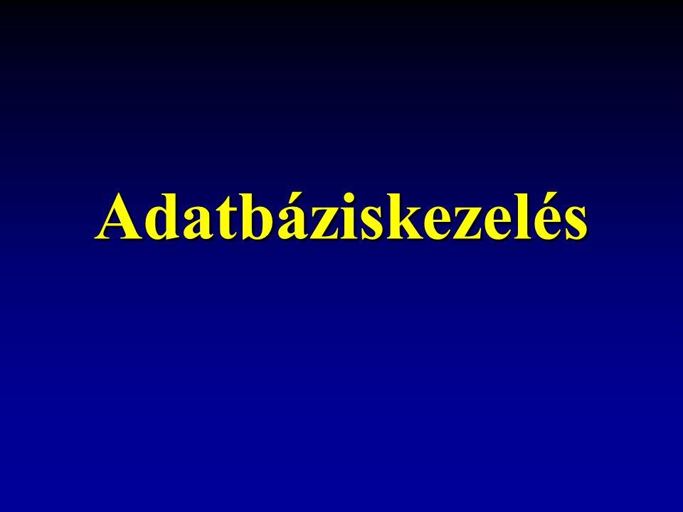 Adatbáziskezelés az ACCESS programmal 12 Az adatbázis tervezése Egy relációs adatbázis valamilyen fokon normalizált, más szóval valamilyen normálformában van, ha eleget tesz meghatározott korlátozásoknak.
