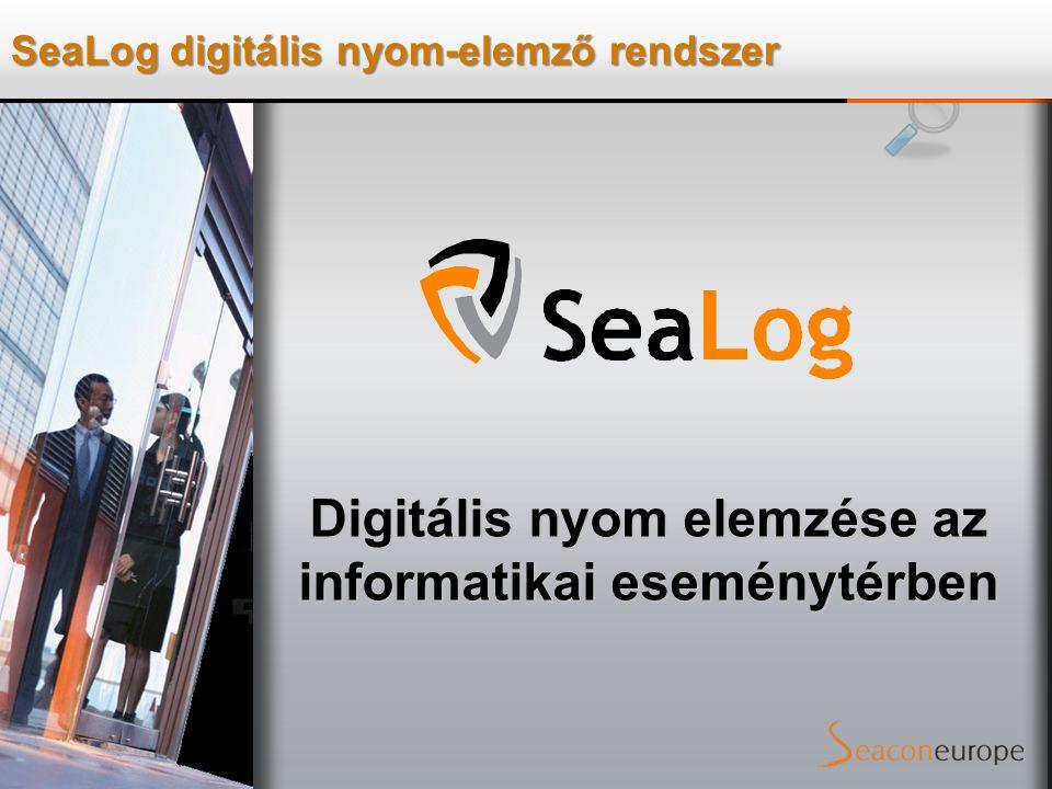 SeaLog digitális nyom-elemző rendszer Digitális nyom elemzése az informatikai eseménytérben