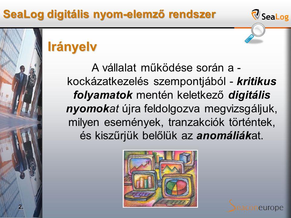 SeaLog digitális nyom-elemző rendszer 3.