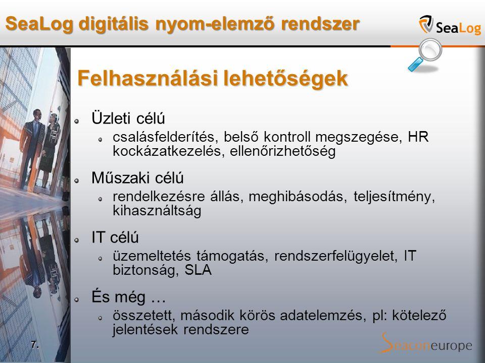SeaLog digitális nyom-elemző rendszer 7.