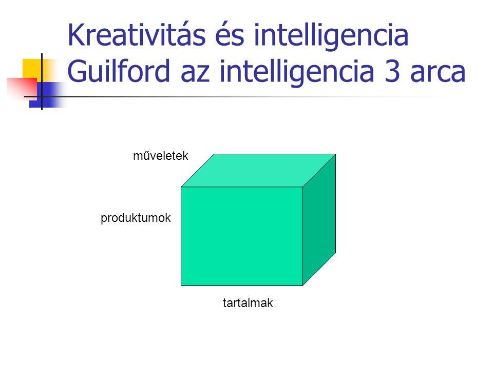 Kreativitás és intelligencia Guilford az intelligencia 3 arca műveletek tartalmak produktumok