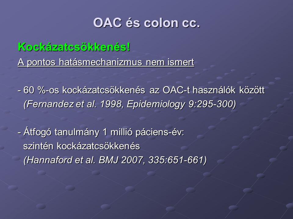 OAC és ovarium cc.I. Kockázatcsökkenés.