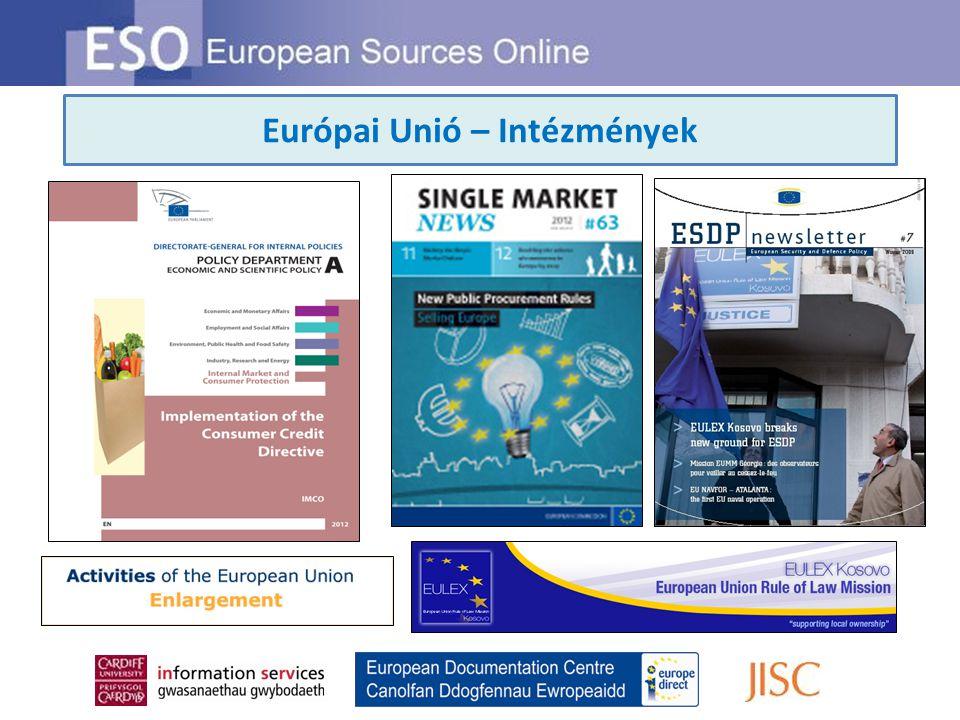Európai Unió – Intézmények