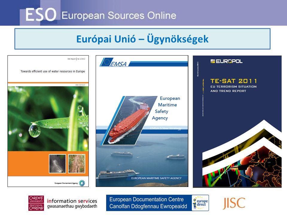 Európai Unió – Ügynökségek