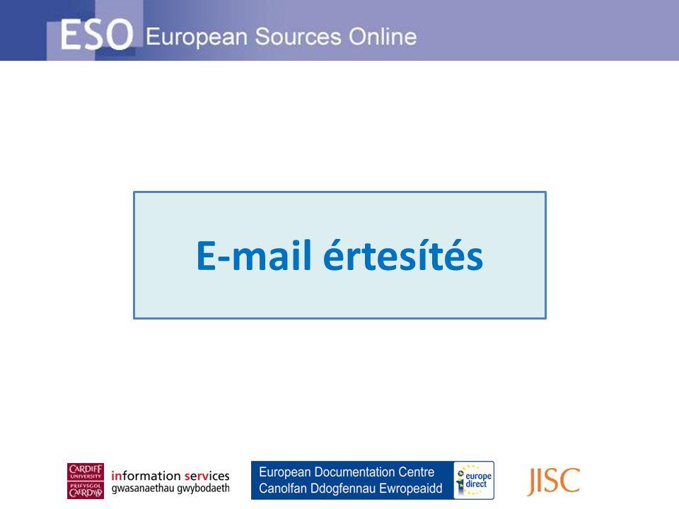 E-mail értesítés