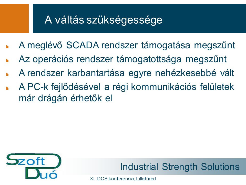 Industrial Strength Solutions XI.