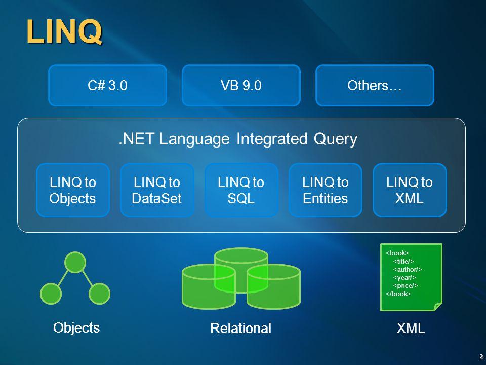 13 Összefoglalás  LINQ megvalósítás DataSet felett  Jól használható, produktív  Összetett lekérdezések is könnyen megfogalmazhatók  Speciális DataSet kiegészítések  DataSet van / volt / lesz