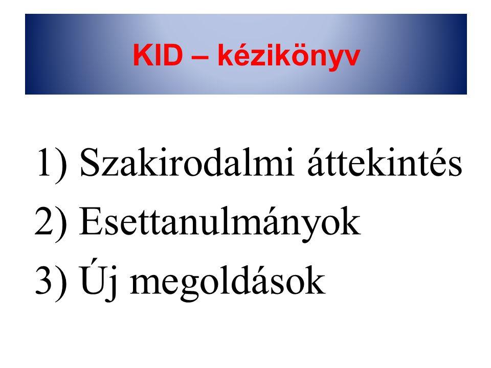 KID – kézikönyv 1) Szakirodalmi áttekintés 2) Esettanulmányok 3) Új megoldások