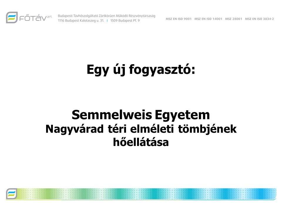 Egy új fogyasztó: Semmelweis Egyetem Nagyvárad téri elméleti tömbjének hőellátása