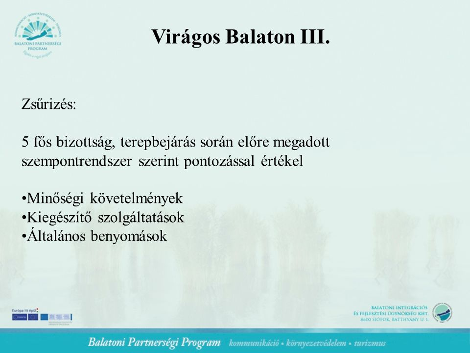 Virágos Balaton III.